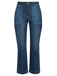 Rebecca Taylor Patchwork Denim Jeans Blue