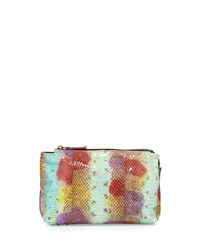 Beirn Large Watersnake Cosmetic Pouch Multicolor