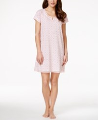 Charter Club Short Sleeve Floral Print Nightgown Only At Macy's