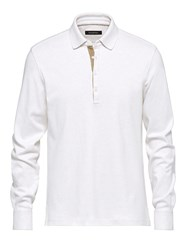 Ermenegildo Zegna White Polo With Leather Details