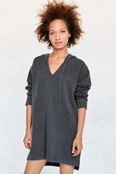 Bdg Hooded Lady Sweatshirt Mini Dress Washed Black