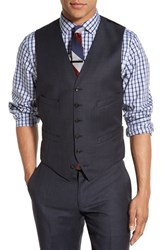 J.Crew Men's Trim Fit Solid Wool Vest Navy