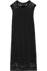 Theory Nirlee Open Knit Linen Blend Dress Black