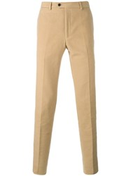 Massimo Piombo Mp Moleskine Tailored Trousers Nude Neutrals