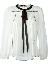 Marc Jacobs Voile Peasant Blouse White
