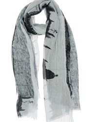 Lost And Found Printed Scarf Grey
