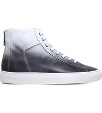 Kg By Kurt Geiger Clarence Leather Trainers White