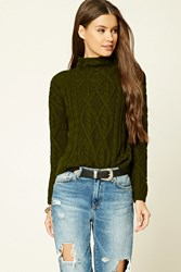 Forever 21 Mock Neck Cable Knit Sweater