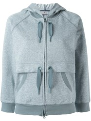 Adidas By Stella Mccartney 'Ess' Zipped Hoodie Blue