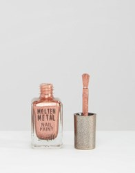 Barry M Molten Metal Nail Paint Silver Lining Copper