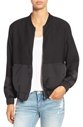 Missguided Women's Tonal Satin Bomber Jacket Black