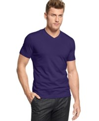 Alfani Red Fitted V Neck T Shirt Deep Rise