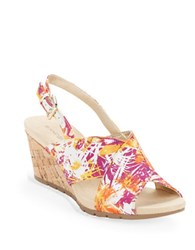 Bandolino Gerie Slingback Wedge Sandals Purple