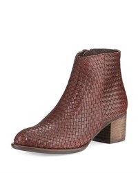 Andre Assous Kaycee Woven Leather Bootie Brown