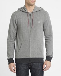 Element Grey Cornell Zipped Hooded Sweatshirt
