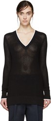 Rag And Bone Black V Neck Maeve Sweater