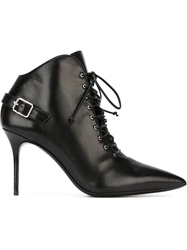 Giuseppe Zanotti Design Buckle Detail Ankle Boots Black