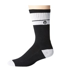 Volcom Quarta Sock Black Men's Crew Cut Socks Shoes