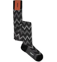 Missoni Over The Knee Cotton Socks 0007 Black