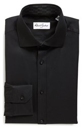 Men's Robert Graham Dobby Dress Shirt Black