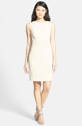 Piped Seam Detail Sheath Dress Regular And Petite Fawn