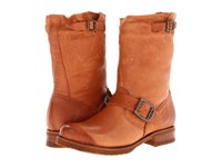 Frye Veronica Shortie Whiskey Soft Vintage Leather Cowboy Boots Tan