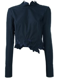 3.1 Phillip Lim Floral Embroidered Top Blue