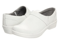 Klogs Usa Mission White Smooth Leather Women's Clog Shoes