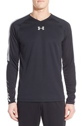 Men's Under Armour 'Select Basketball' Fitted Long Sleeve Moisture Wicking T Shirt Black