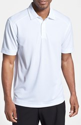 Cutter And Buck Men's Big Tall 'Genre' Drytec Moisture Wicking Polo White