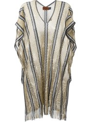 Missoni Fringed Tunic Metallic