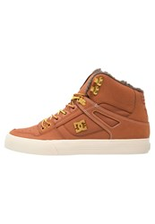 Dc Shoes Spartan Skater Shoes Burnt Henna White Dark Brown