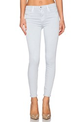 J Brand High Rise Ankle Zip Baby Blue