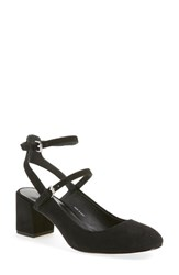 Women's Rebecca Minkoff 'Brooke' Ankle Strap Pump Black Suede