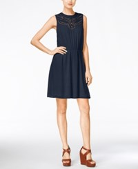 Maison Jules Cinched Waist Sleeveless Dress Only At Macy's Blu Notte