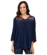 Ariat Georgia Top Insignia Blue Women's Long Sleeve Pullover