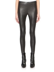 Saint Laurent Lambskin Leather Leggings Black