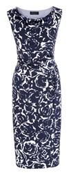 Grace Made In Britain Floral Dress Navy