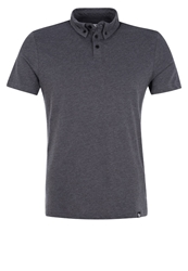 Your Turn Polo Shirt Dark Grey Melange Mottled Dark Grey