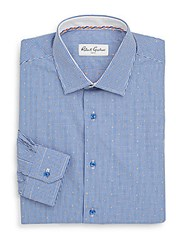 Robert Graham Mini Organza Dress Shirt Blue