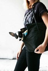 Found My Animal Womens Leather And Rope Dog Bag