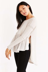 Truly Madly Deeply Phoebe Babydoll Sweatshirt Taupe