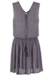 Vero Moda Vmcaro Nella Summer Dress Black Iris Dark Blue