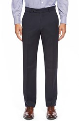 Men's Big And Tall Ballin Flat Front Solid Wool Trousers Navy