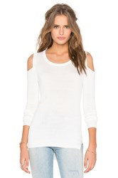 Feel The Piece Florentine Open Shoulder Sweater White