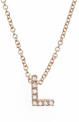 Bony Levy Women's Pave Diamond Initial Pendant Necklace Nordstrom Exclusive Rose Gold L