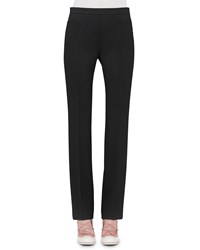Akris Punto Francoise Straight Leg Pants Black Women's Size 18