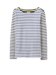 Joules Long Sleeve Jersey Striped Top French Navy