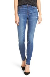Madewell Women's 'High Riser' Distressed Skinny Jeans Hammond Wash