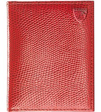 Aspinal Of London Id And Travel Leather Card Case Berry